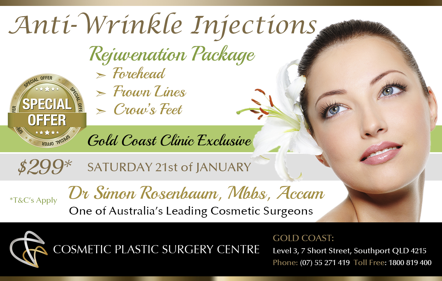 Cosmetic Plastic Surgery Centre - Anti Winkle Injections